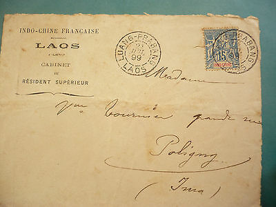1899 - Indochine Lao Cover Luang Prabang - Front Only