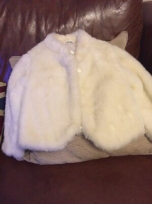 White Fluffy Jackets From Next Age 2-3 Gorgeous/winter/Christmas
