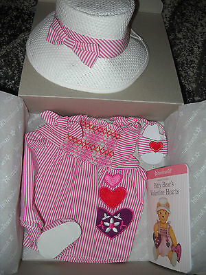 American Girl Bitty Baby Twins Little Hearts Valentines Outfit Set NEW in Box