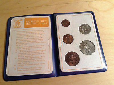 Britain's First Decimal Coins,  Presentation Wallet, 1971