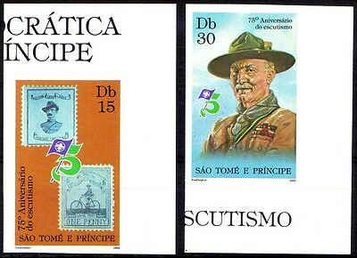 St Thomas - 1982 75th Anniversary of Scouting imperforates MNH (Bp692)