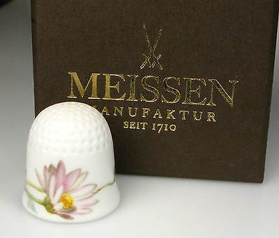 thimble porcelain marquerite flower Meissen handpainted Germany new