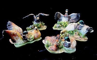 K's Collection Lot of 5 Different Mallard Duck Resin Figurines