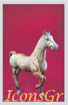 Ancient Greek Bronze Museum Statue Replica Of Hellinistic Era Horse Collectable