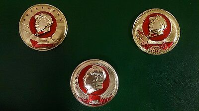 CHINA 3Chairman Mao AUTHENTIC badges,1959-1969,  aluminium with factory and date