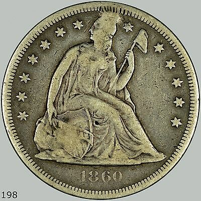 1860-O Seated Liberty Dollar, Previously ANACS Fine Details, Low Mintage, Pluged