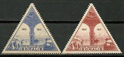 Somalia French 1941 Airpost Stamps 2 Mnh** -Cag 150816