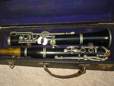 Very nice old wooden clarinet C- Clarinet, Albert system, 4rings! Meinel &Herold