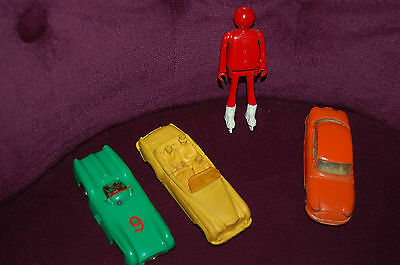 3 voitures anciennes norev dinky toys et personnage play big