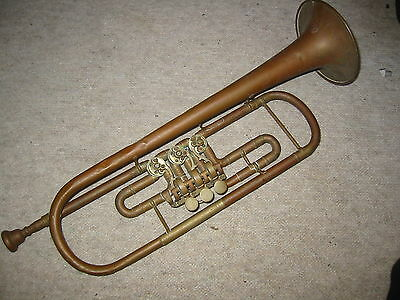 "old rotary Bb trumpet ""Schediwy"" needs repair"