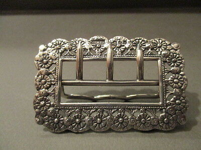 Victorian Saunders And Shepherd Chester Sterling Silver Buckle