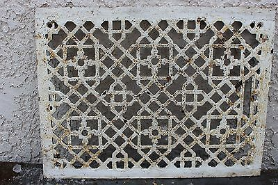 "Vintage Ornate Cast Iron Air Return Floor Grate 15"" x 11"" Steampunk Home"