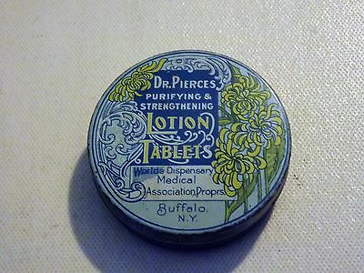 Vintage Tin of Dr. Pierce's Purifying & Strenthening Lotion Tablets