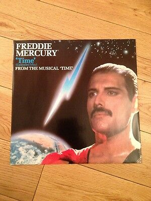 """FREDDIE MERCURY Queen TIME UK Dave Clark 12"""" SINGLE MINT CONDITION Free UK Post"""
