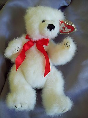 """Ty Classic 1993 Amore Jointed Polar Bear I love You Heart w/ tags 8"""""""