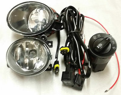 Vw T5 2010 - 2015 Fog Lights And Wirings And Switch New
