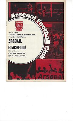 5 Arsenal Programmes From The 1970-71 Double Season