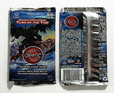 Lot of (62) Chaotic TCG M'arrillian Invasion Turn of the Tide Booster Packs