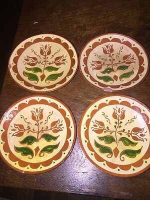 4 1946 EY Marked pennsbury Pottery Small Plates
