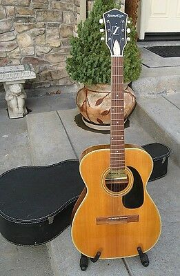 Vintage Harmony Sovereign H-6303 Acoustic Guitar With Case
