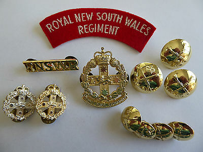 ROYAL NEW SOUTH WALES REGIMENT Patch, badges and buttons