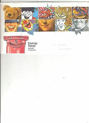 Greetings Stamps FDC 1990