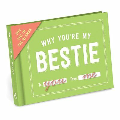 Why You're My Bestie Best Friend Fill In The Blanks Journal Book Gift Present