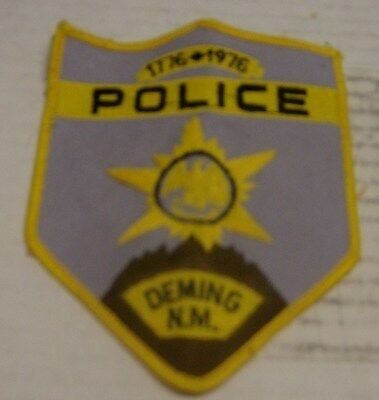 1776-1976 Deming New Mexico Police Patch-BiCentennial