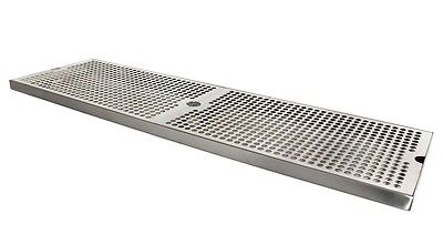 "Kegco SESM-309D 30"" x 9"" Surface Mount Drip Tray with Drain"