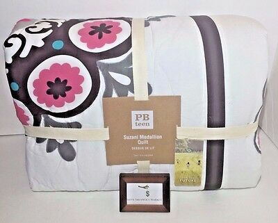 *make Offer* $169 Pottery Barn Suzani Medallion Patchwork Quilt Twin / Xl