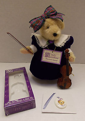 MUFFY Vanderbear Musical Soiree: Purple Velvet Collection VIOLIN NECKLACE Lot
