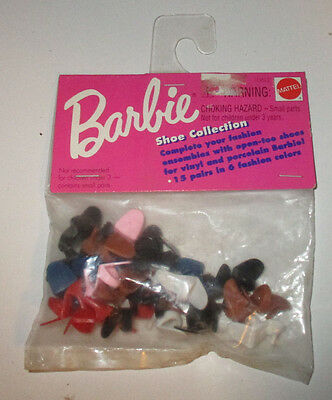 Barbie's Vintage 1960's Reproduction  15 pairs of Open Toe Heels - Shoes, NRFP