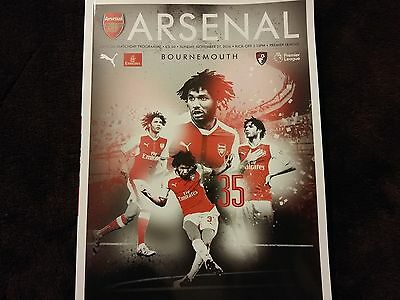 Arsenal v Bournemouth -27/11/16,official matchday programme