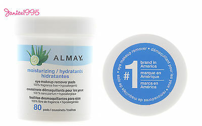ALMAY 80 Eye Make Up & Long LastinG LipStick Remover Pads MOISTURIZING