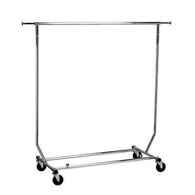 Heavy Duty Collapsible Clothes Rack With Wheels