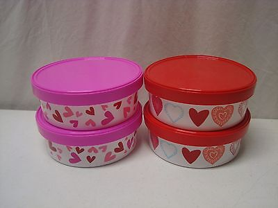 Red and Pink Heart Containers