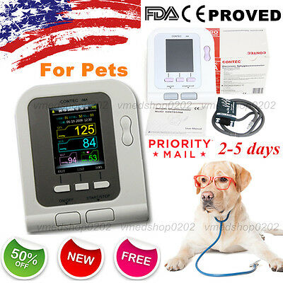 2017 Digital Veterinary Blood Pressure Monitor NIBP cuff,Dog/Cat/Pets,US seller