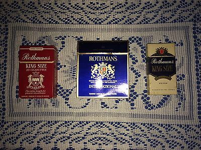 Rothmans Tobacco Packets X 3