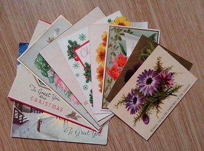 Selection Of Antique/vintage Christmas Cards. Good Lot!