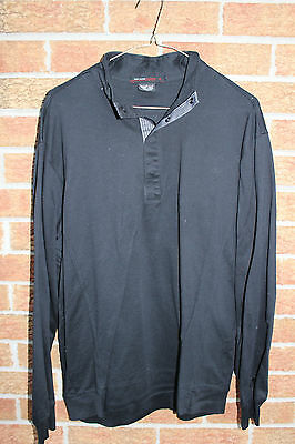 Preowned Mens Nike Tiger Woods Collection Black Pullover Sweater Large Msrp $100