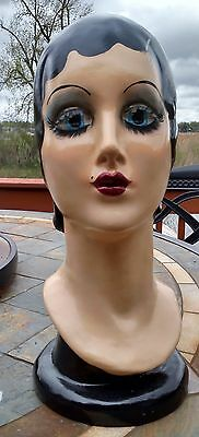 Vintage Art Deco Mannequin Head Flapper with Eyelashes Katherines Collection
