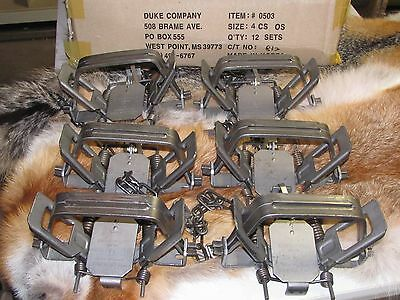 6 New Duke # 4 offset  4X4 Coil Spring Traps  Beaver Bobcat Coyote Wolf Trapping