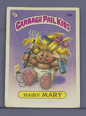 1985 Topps Garbage Pail Kids Card - Hairy Mary 12b - 1st Series  *SAFE SHIP*