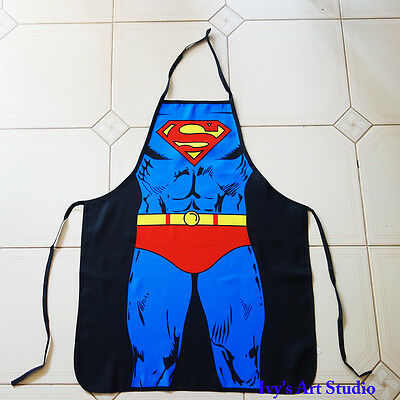 "Funny Superhero Cosplay Party Costume ""Superman"" Christmas Gift Cooking Apron"