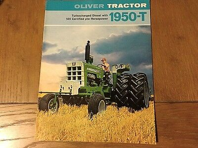OLIVER VINTAGE 1950-T TRACTOR BROCHURE VERY GOOD 8pgs 1969 **
