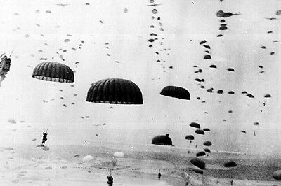New 5x7 World War II Photo: 1st Allied Airborne Paratroopers Operation, Holland