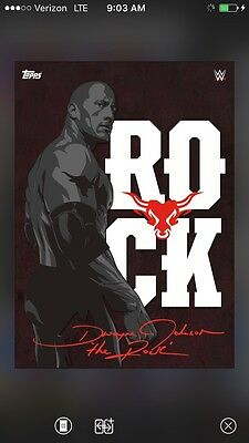 Topps WWE Slam Red Signature Autograph The Rock Dwayne Johnson Digital Card
