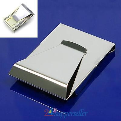 New Slim Clip Double Sided Money Clip Credit Card Holder Wallet Stainless Steel