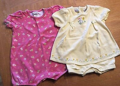 Girl's Lot of 2 One piece Shorts, Romper, Dress, Outfit 6-9 Months