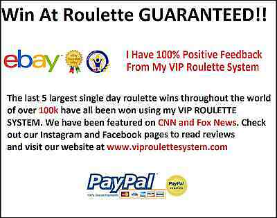 #1 Roulette Betting Gambling System Strategy. Best Roulette System on Ebay $$$